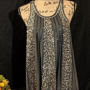 Size large. Express gray sequin tank